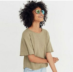 Madewell Texture & Thread Flutter-Sleeve top large